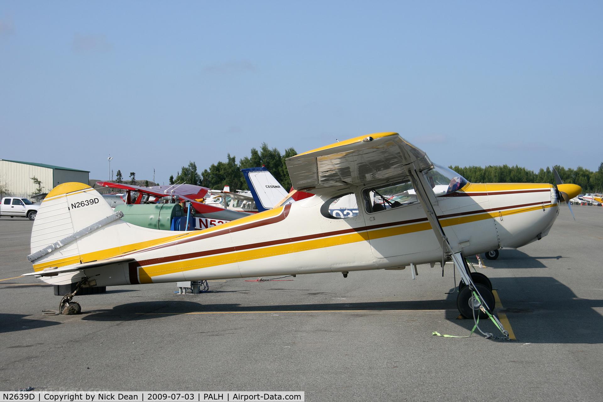 N2639D, 1952 Cessna 170B C/N 20791, PALH
