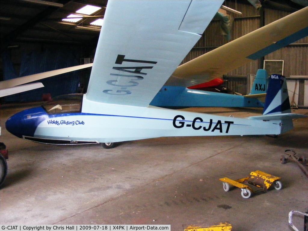 G-CJAT, 1963 Schleicher K-8B C/N 8150, Schleicher K 8B. Wolds Gliding Club at Pocklington Airfield
