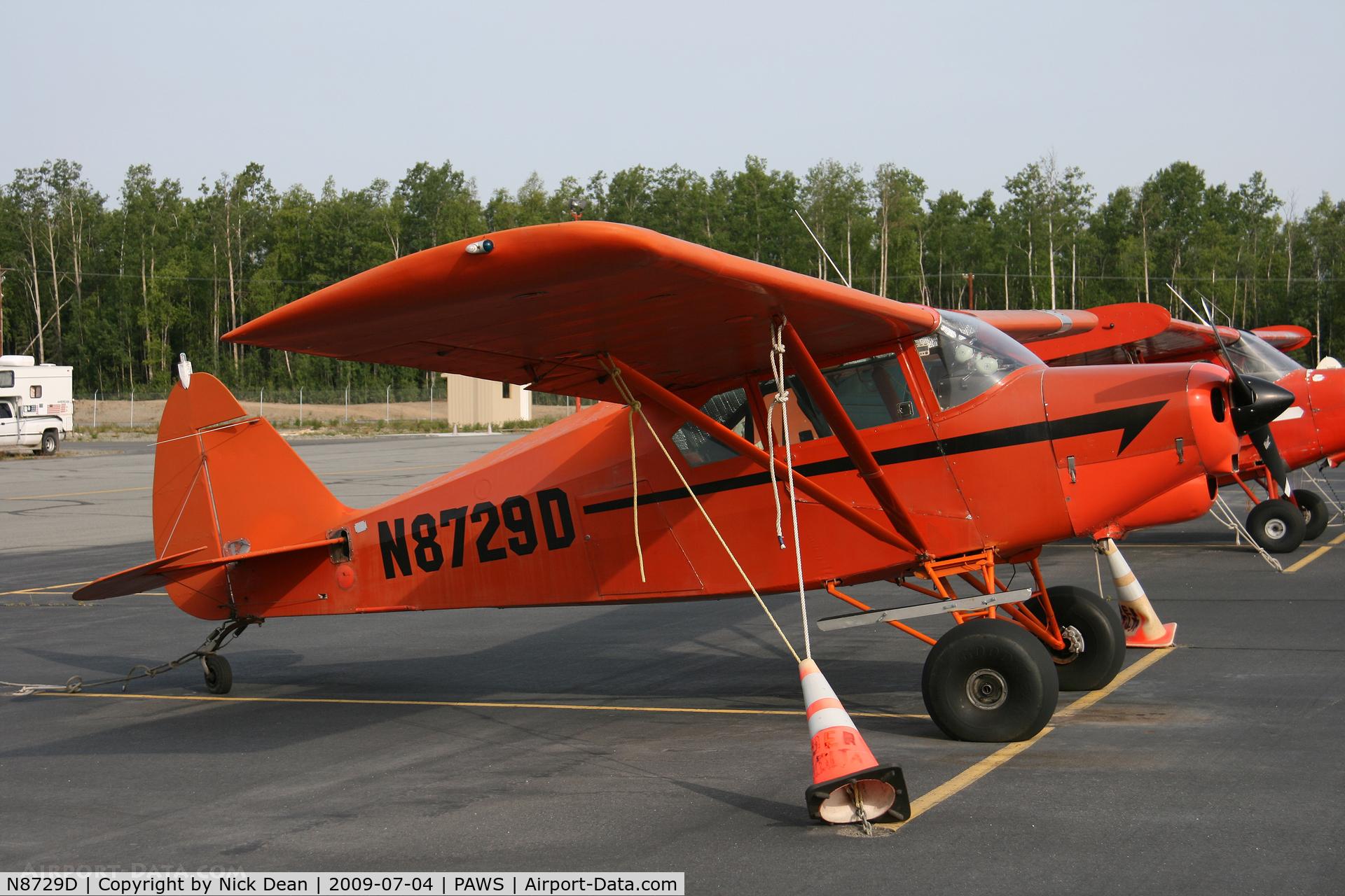 N8729D, 1958 Piper PA-22-160 Tri Pacer C/N 22-5910, PAWS