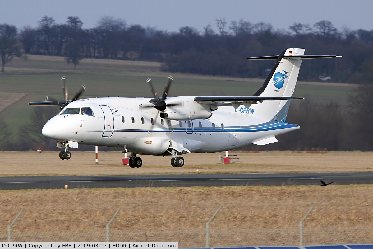D-CPRW, 1998 Dornier 328-110 C/N 3097, moments from touch down