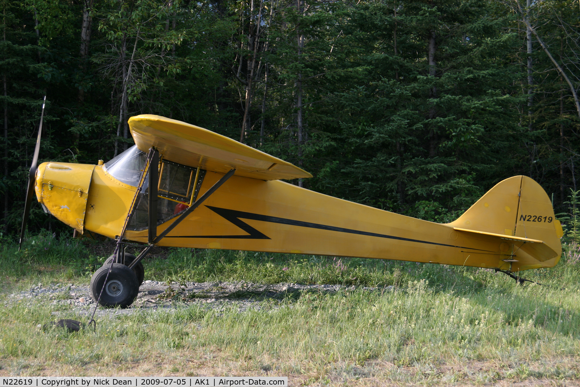 N22619, 1939 Taylorcraft BL-65 (L-2F) C/N 1267, AK1