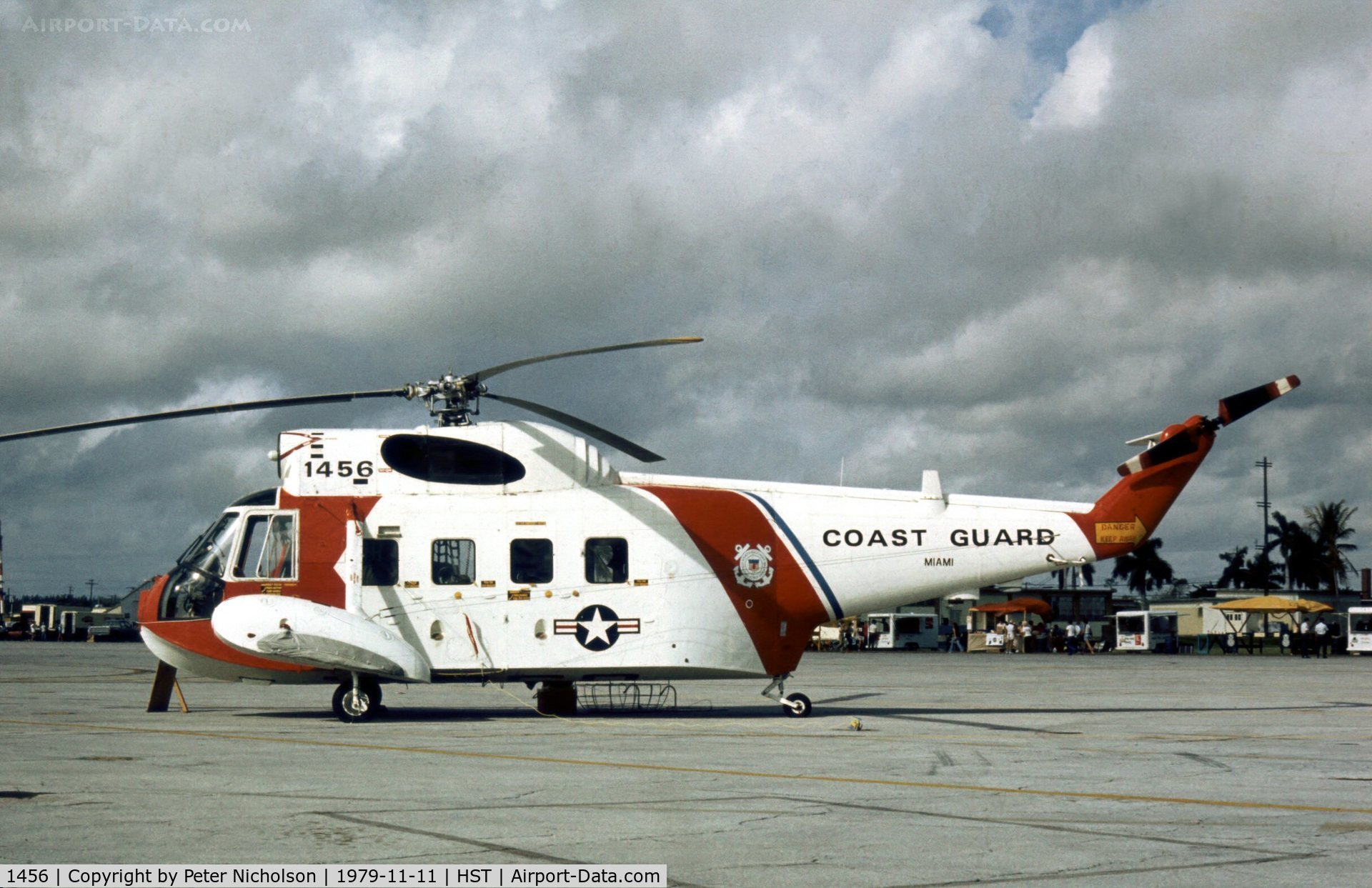 1456, Sikorsky HH-52A Sea Guardian C/N 62.135, HH-3F Pelican of the US Coast Guard Miami station at the 1979 Homestead AFB Open House.