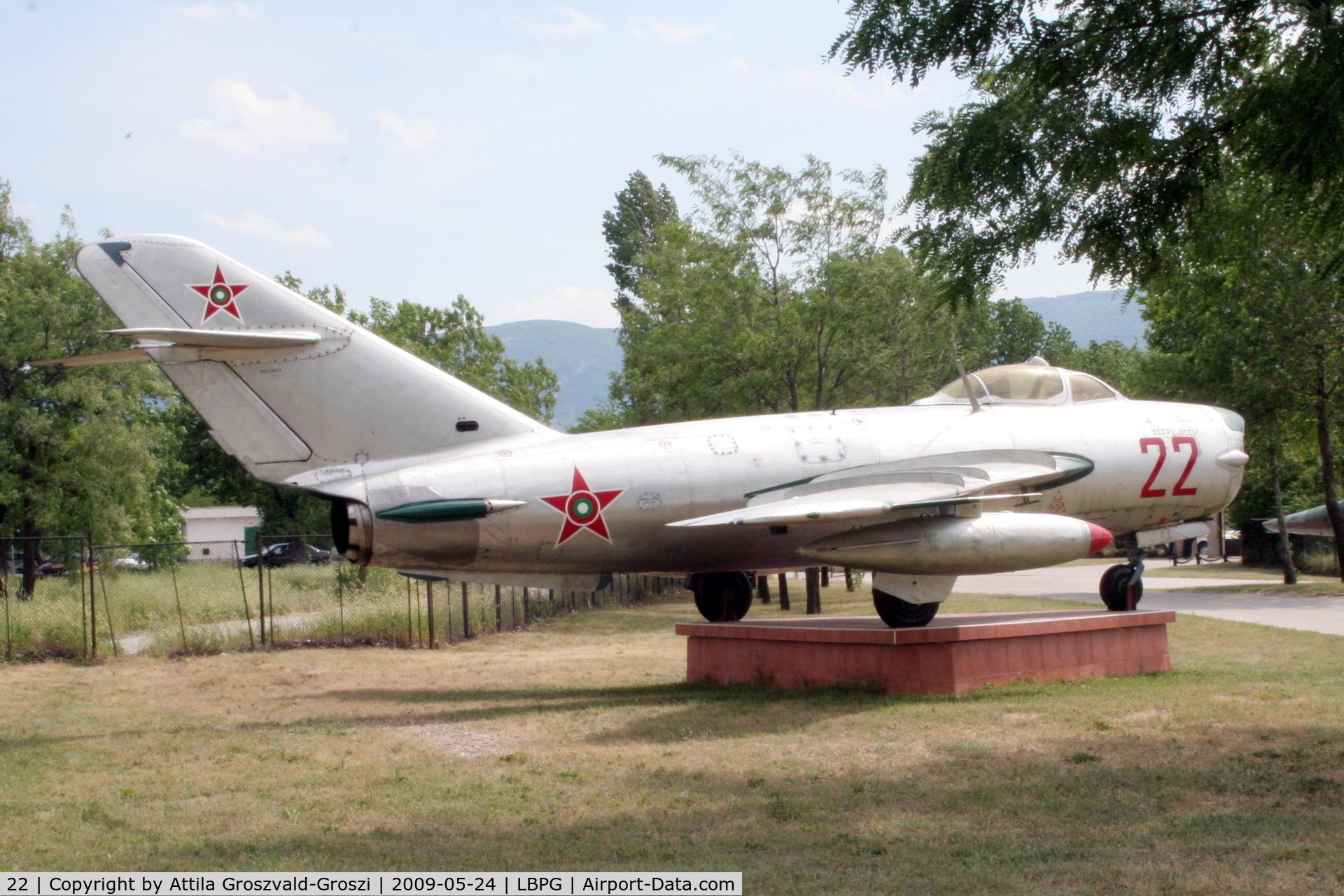 22, 1958 Mikoyan-Gurevich MiG-17PF C/N 58210414, Bulgarian Museum of Aviation, Plovdiv-Krumovo (LBPG).