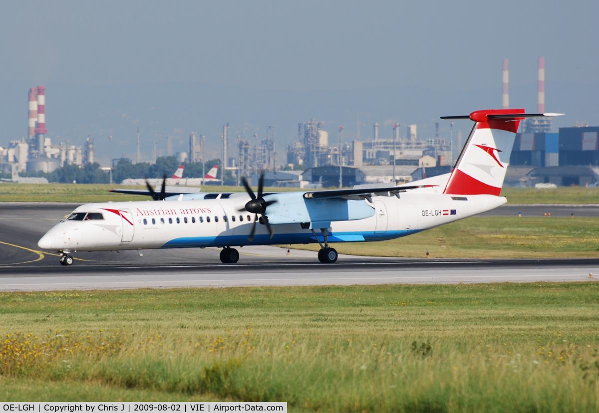 OE-LGH, 2002 De Havilland Canada DHC-8-402Q Dash 8 C/N 4075, Austrian arrows Bombardier DHC-8-402
