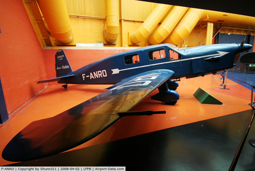 F-ANRO, Caudron C.635M Simoun C/N 15/7017, Preserved inside Le Bourget Museum...