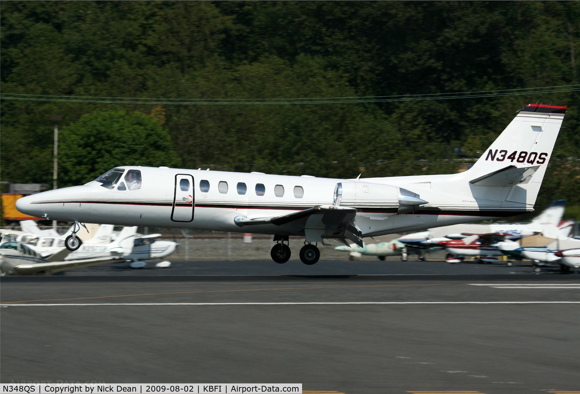 N348QS, 1996 Cessna 560 Citation Ultra C/N 560-0348, KBFI