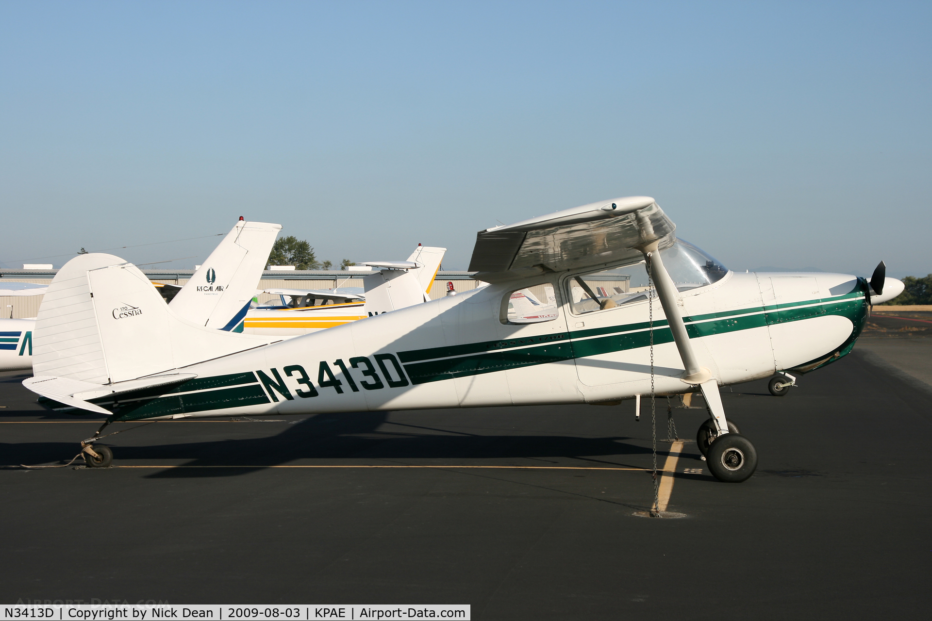 N3413D, 1955 Cessna 170B C/N 26956, KPAE