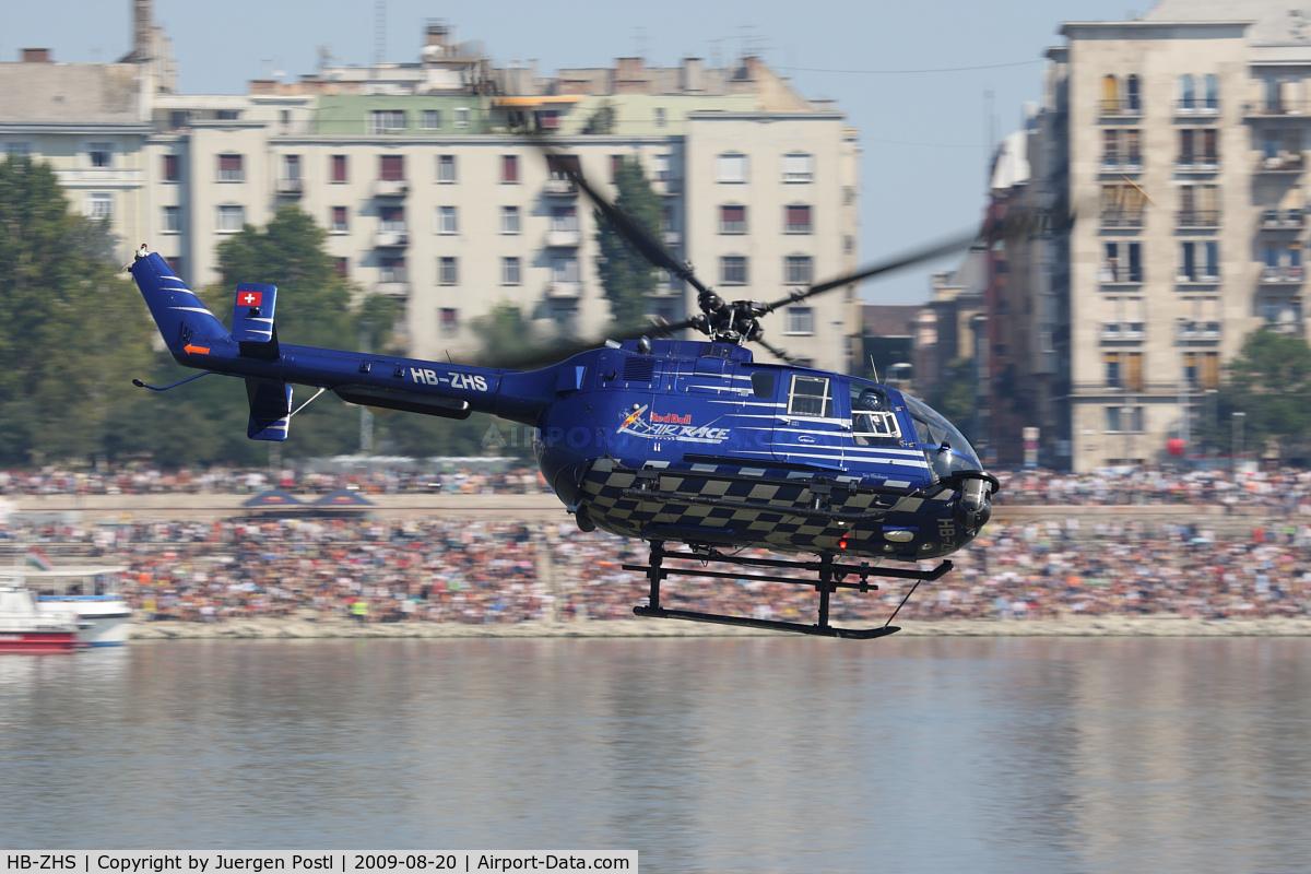HB-ZHS, 1982 Eurocopter Bo-105CBS-4 C/N S-606, Red Bull Air Race Budapest 2009 - Eurocopter BO105CBS-4