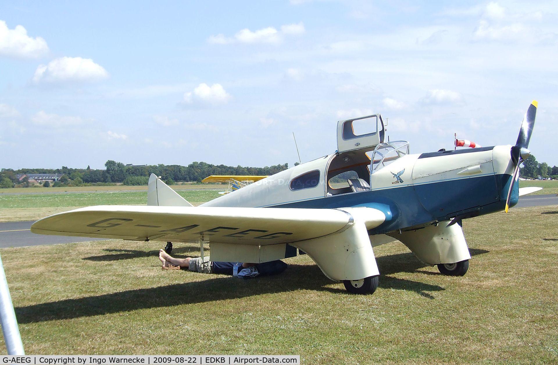G-AEEG, 1936 Miles M-3A Falcon Major C/N 216, Miles M.3A Falcon at the Bonn-Hangelar centennial jubilee airshow