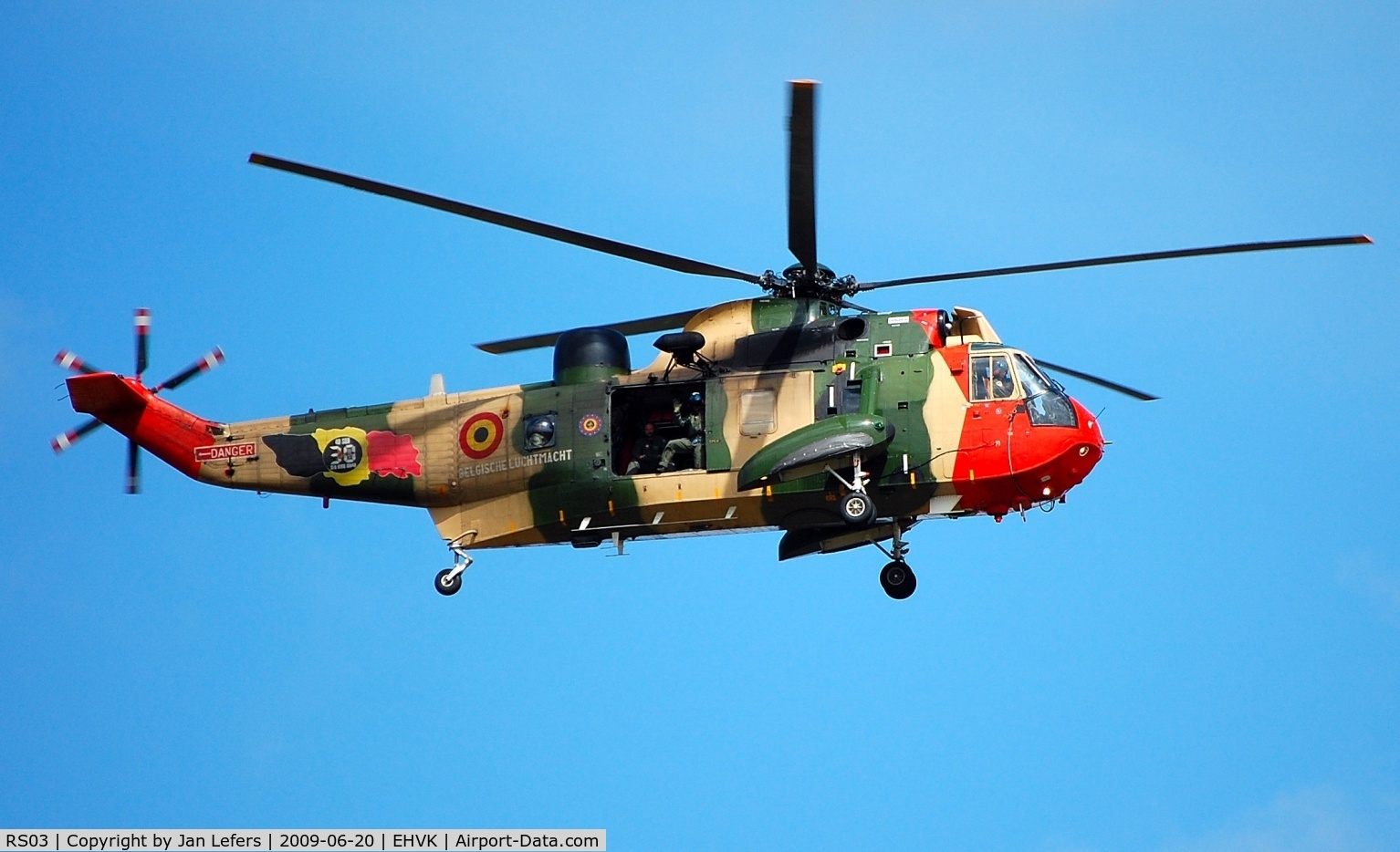 RS03, Westland Sea King MK48 C/N WA833, Belgium Airforce Helicopter