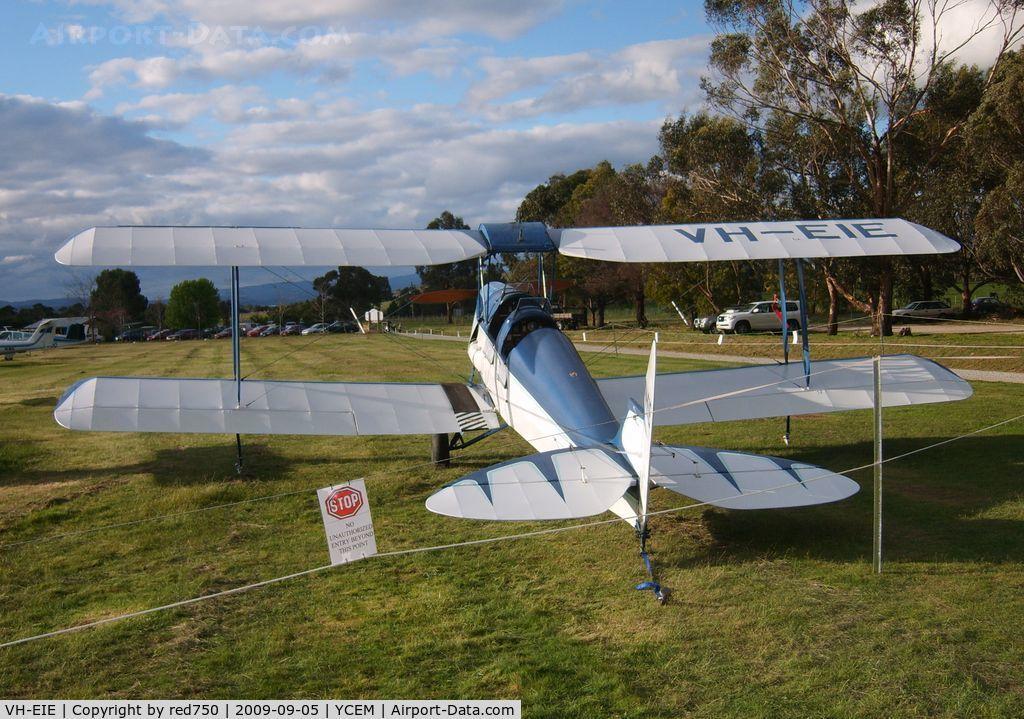 VH-EIE, 1940 De Havilland Australia DH-82A Tiger Moth C/N R251, VH-EIE on display at Mission Aviation Fellowship Open Day, Coldstream