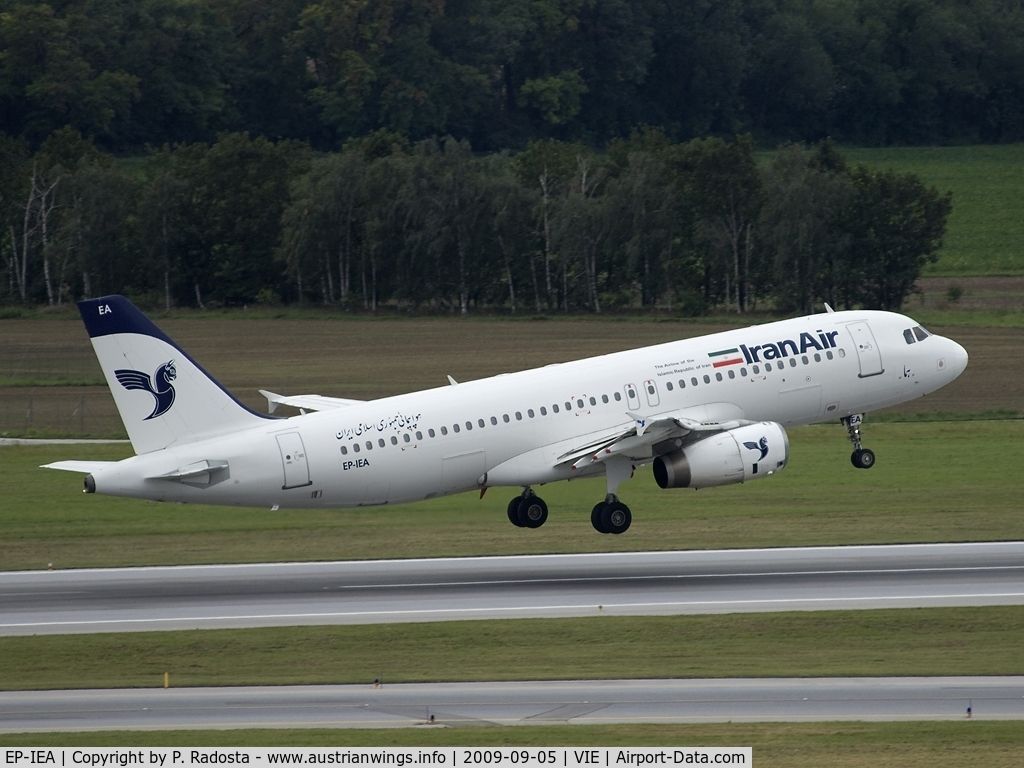 EP-IEA, 1995 Airbus A320-232 C/N 530, Iran Air A 320 -  normally visits Vienna with A 310 or A 300-600
