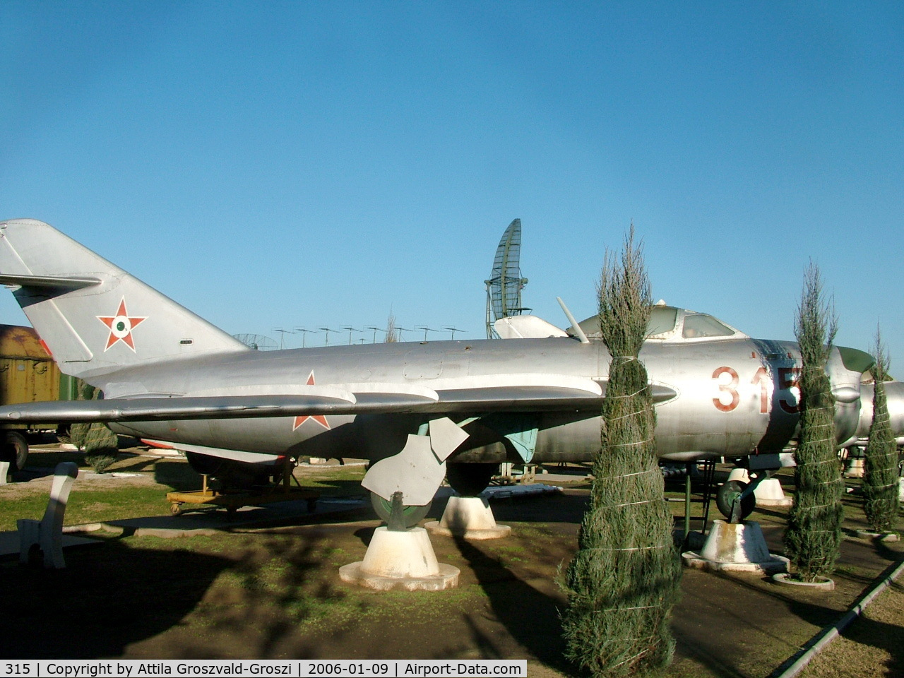 315, 1955 Mikoyan-Gurevich MiG-17PF C/N 0315, Kecel Military technical park, Hungary