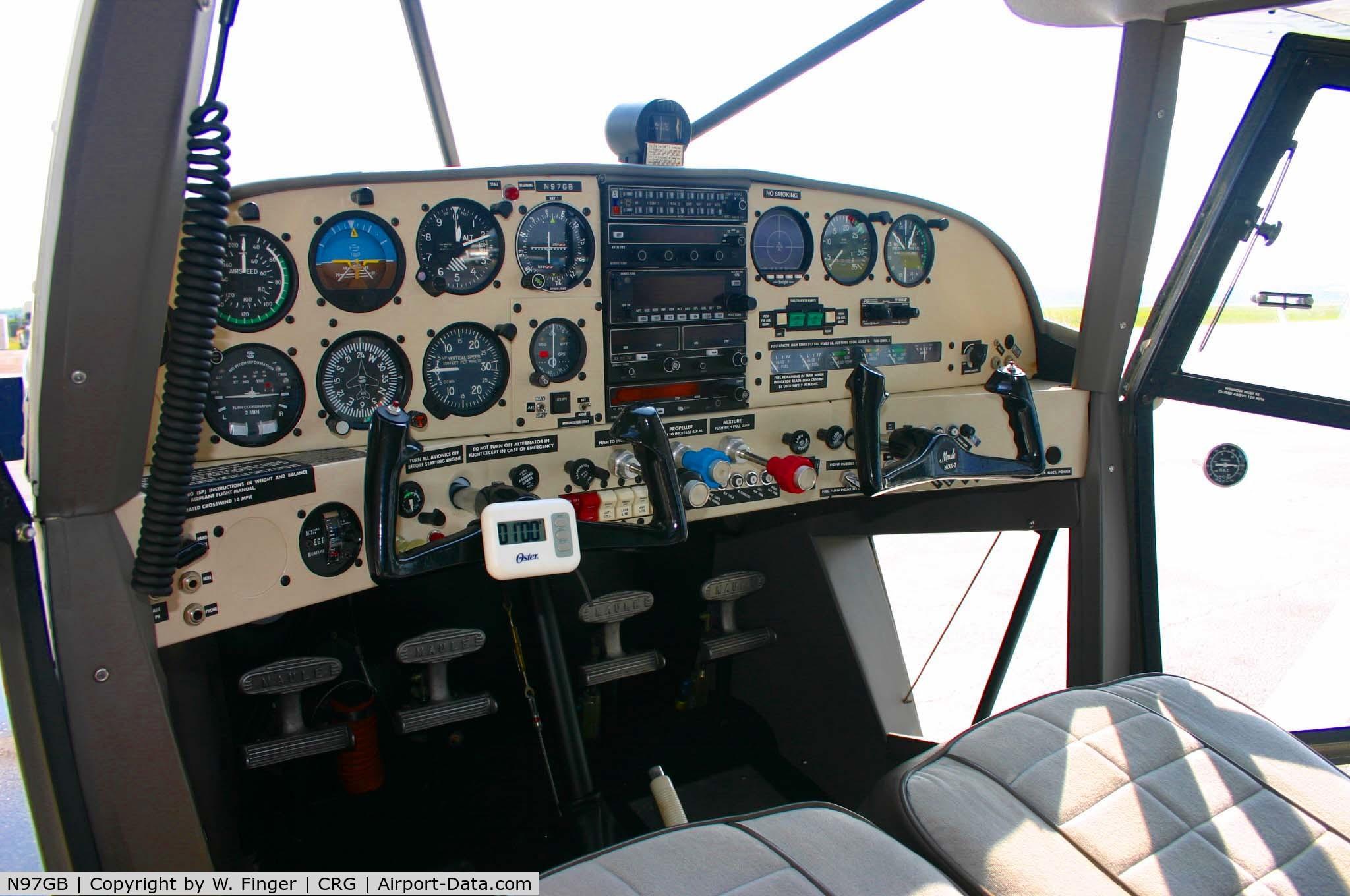 Aircraft Instrument Panel : Aircraft n gb maule mxt star rocket c