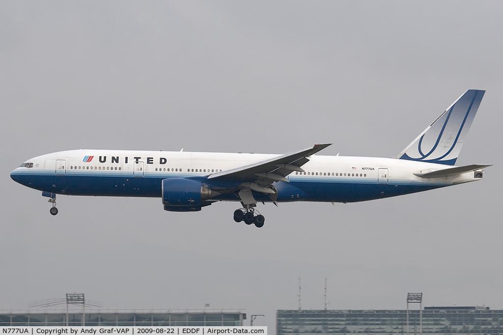 N777UA, 1995 Boeing 777-222 C/N 26916, United Airlines 777-200