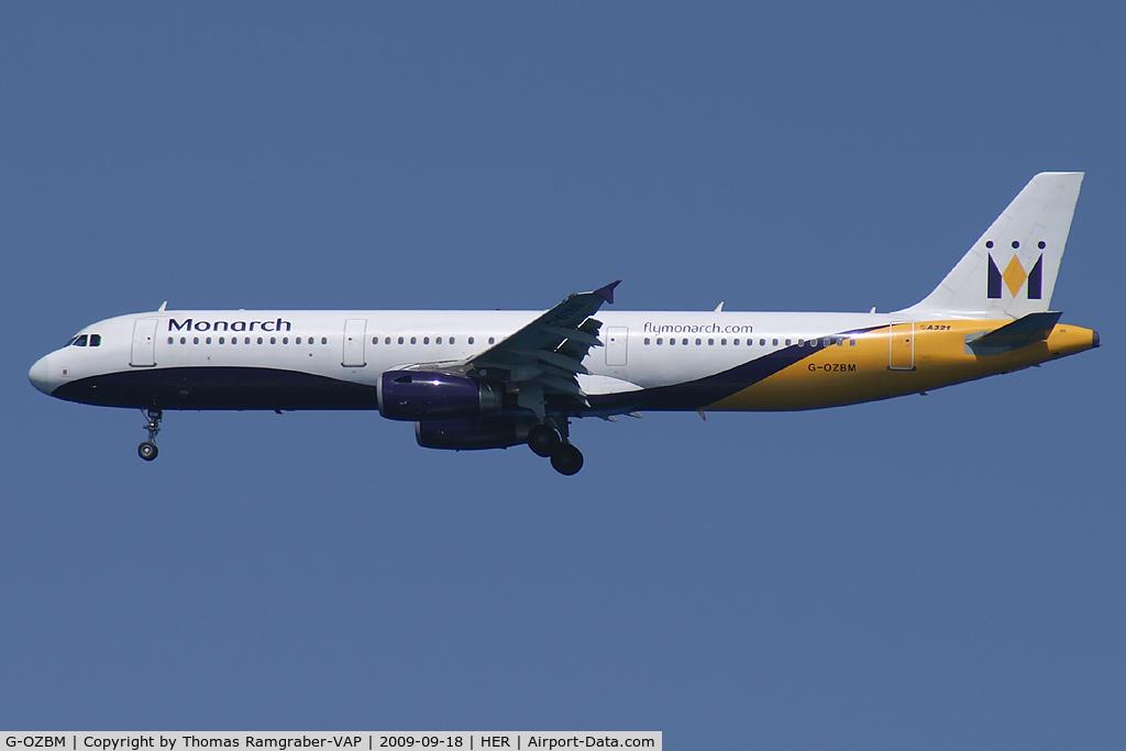 G-OZBM, 1999 Airbus A321-231 C/N 1045, Monarch Airbus A321