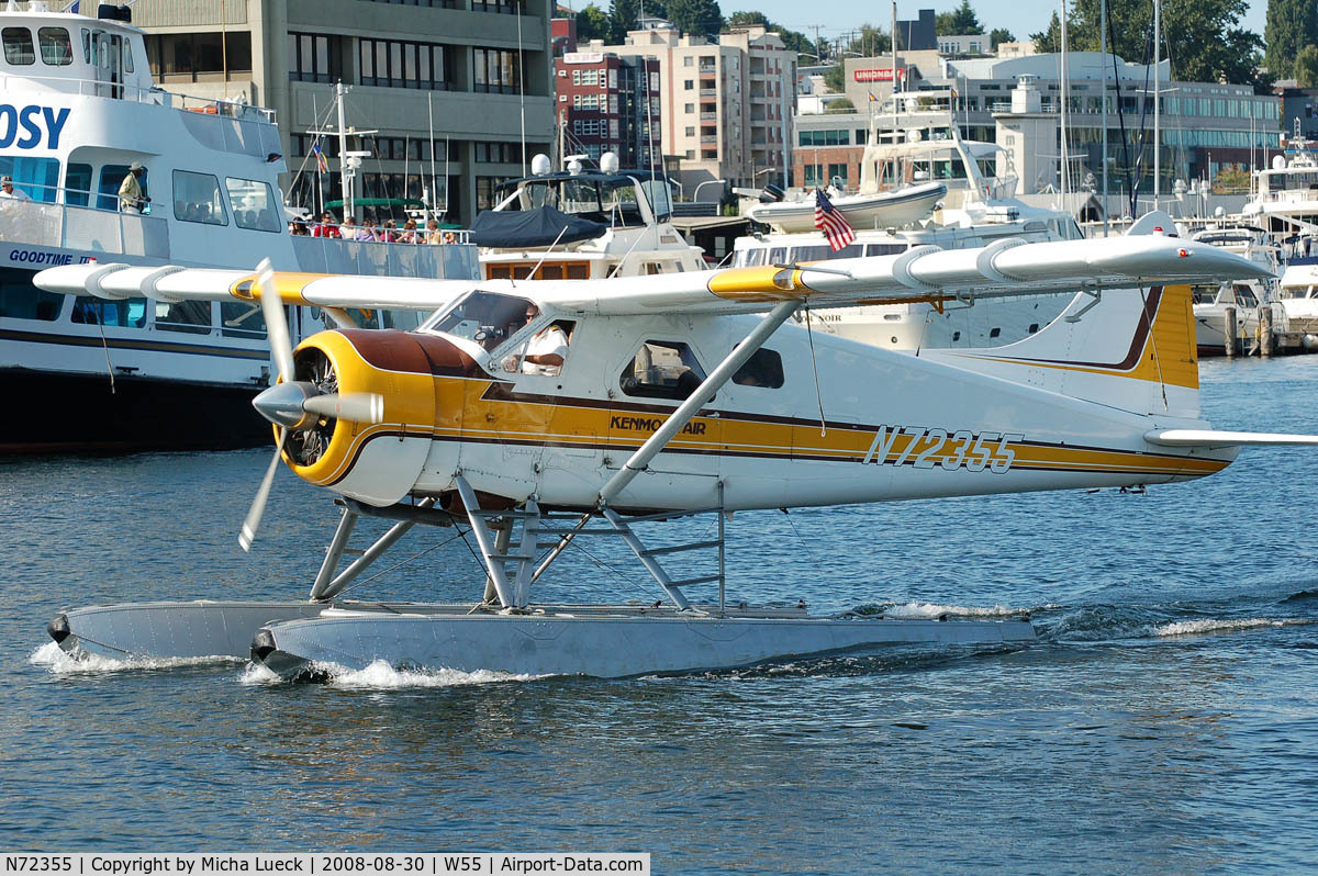 N72355, 1957 De Havilland Canada U-6A Beaver C/N 1164, At Lake Union, Seattle, WA