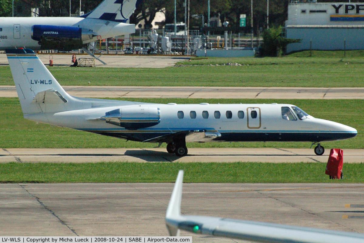 LV-WLS, 1995 Cessna 560 Citation Ultra C/N 560-0289, At Aeroparque (AEP)