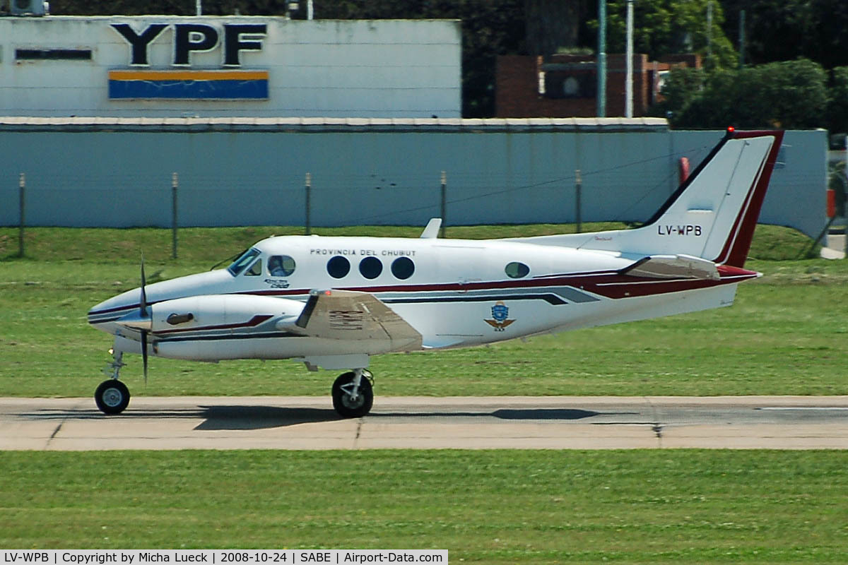 LV-WPB, 1995 Beech C90B King Air C/N LJ-1416, At Aeroparque (AEP)