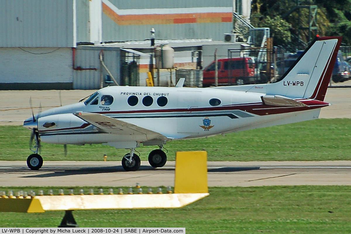 LV-WPB, 1995 Beech C90B King Air C/N LJ-1416, At Aeroparque (AEP)