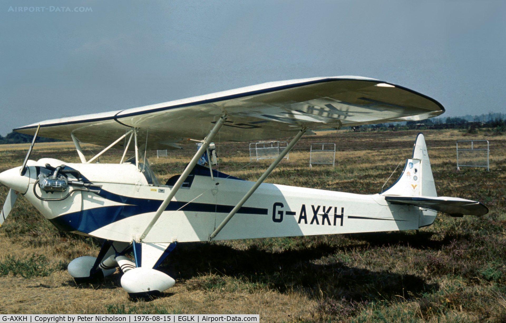 G-AXKH, 1974 Luton LA4A Minor C/N PAL 1316, Luton L.A.4a Minor at the 1976 Blackbushe Fly-In.