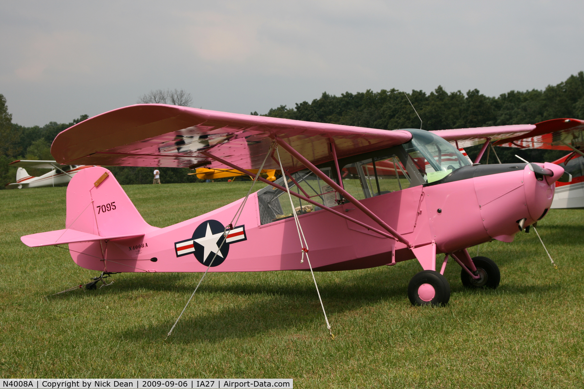 N4008A, 1947 Aeronca 7BCM C/N 47-1095, IA27 No c/n readily apparent for this airframe obviously the number quoted is a mil s/n