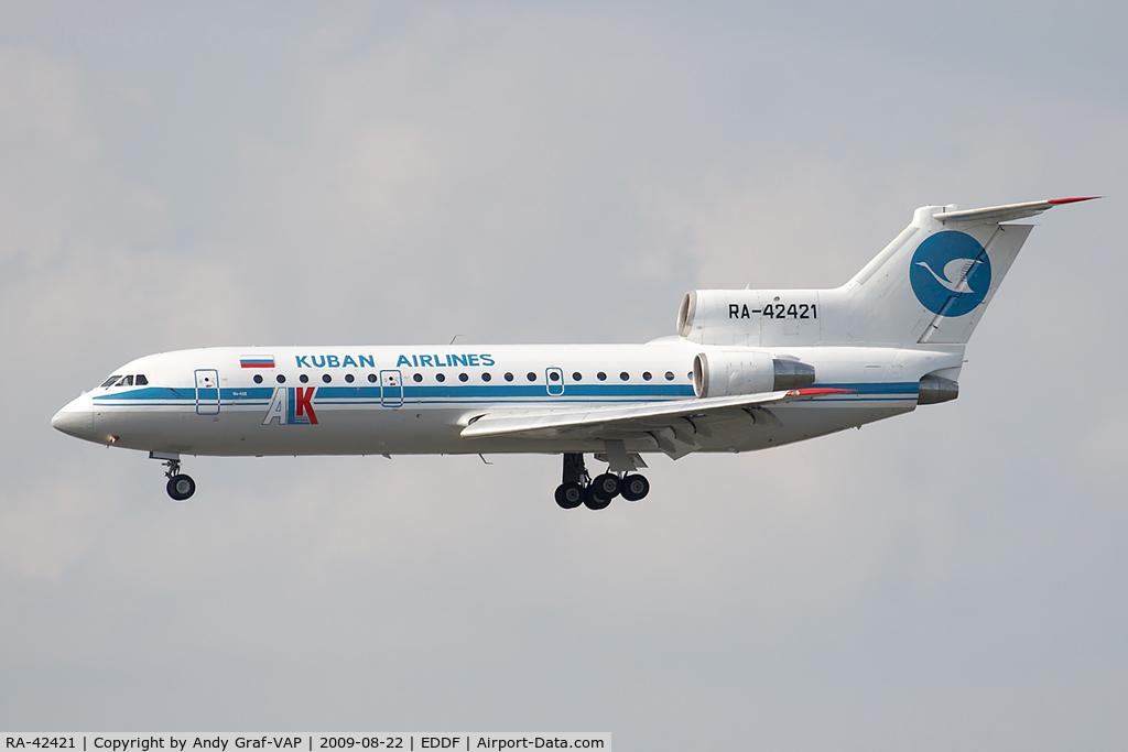 RA-42421, Yakovlev Yak-42D C/N 4520422303017, Kuban Airlines Y42