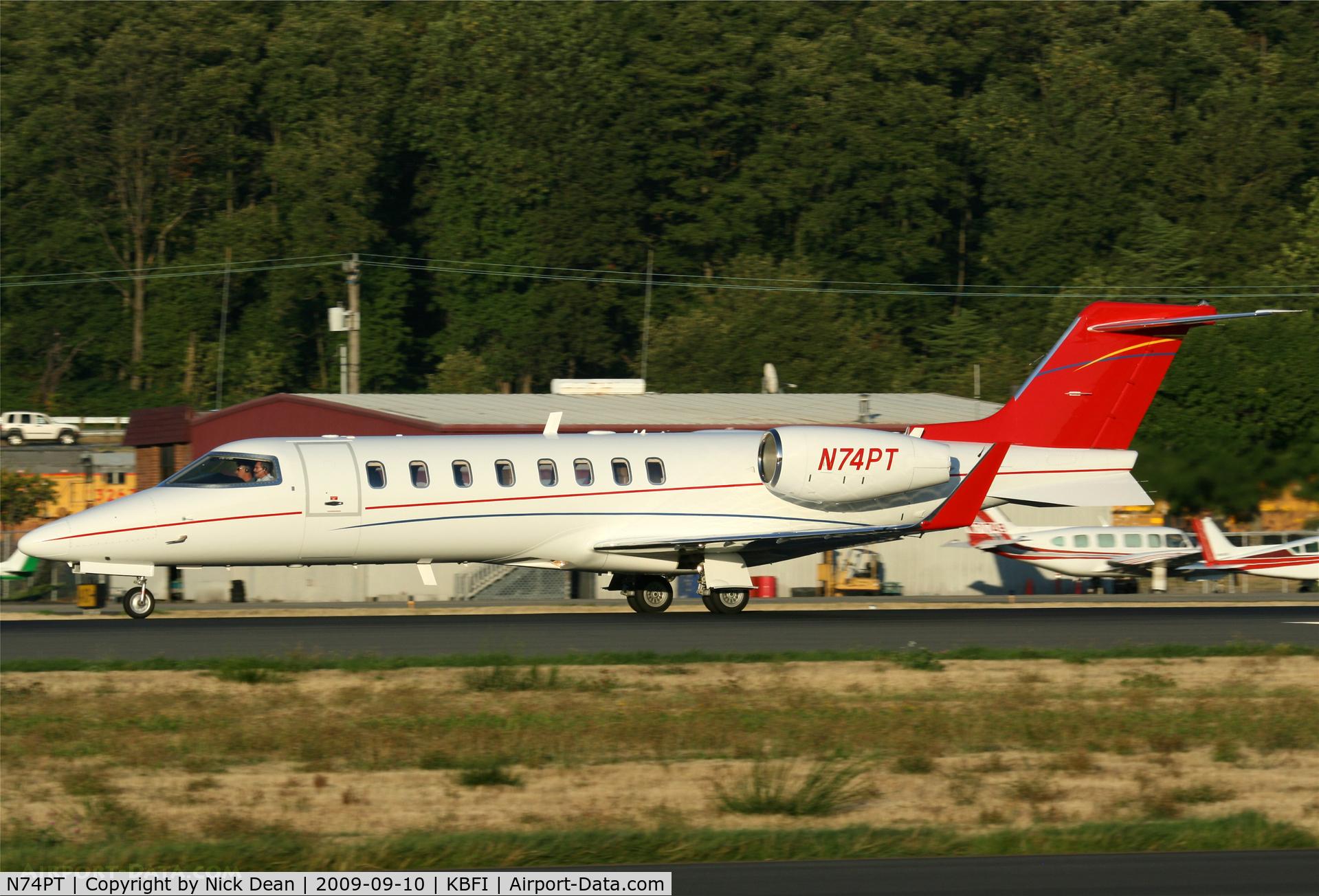 N74PT, 2006 Learjet Inc 45 C/N 314, KBFI