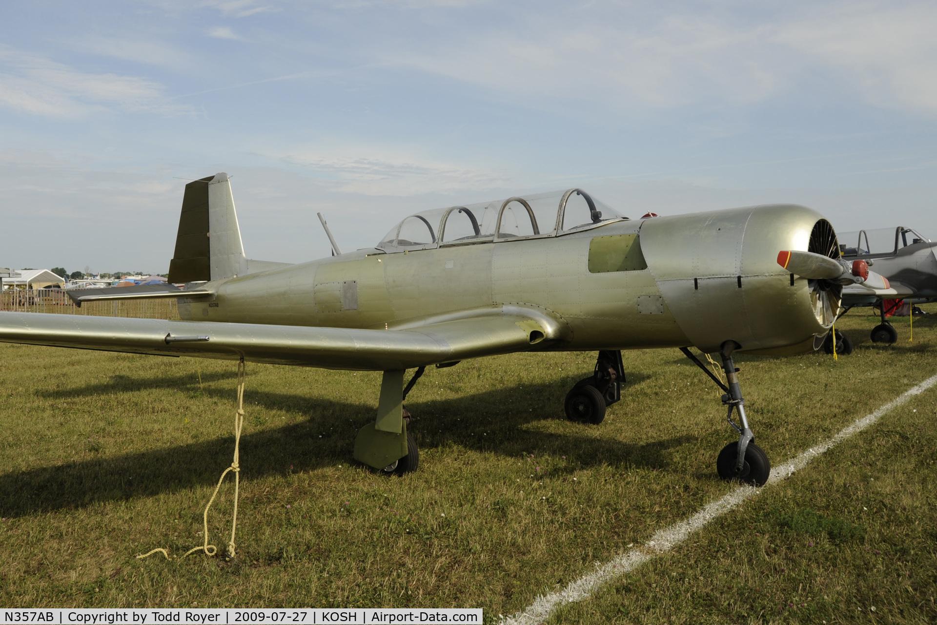 N357AB, 1971 Nanchang CJ-6 C/N 1432023, Oshkosh EAA Fly-in 2009