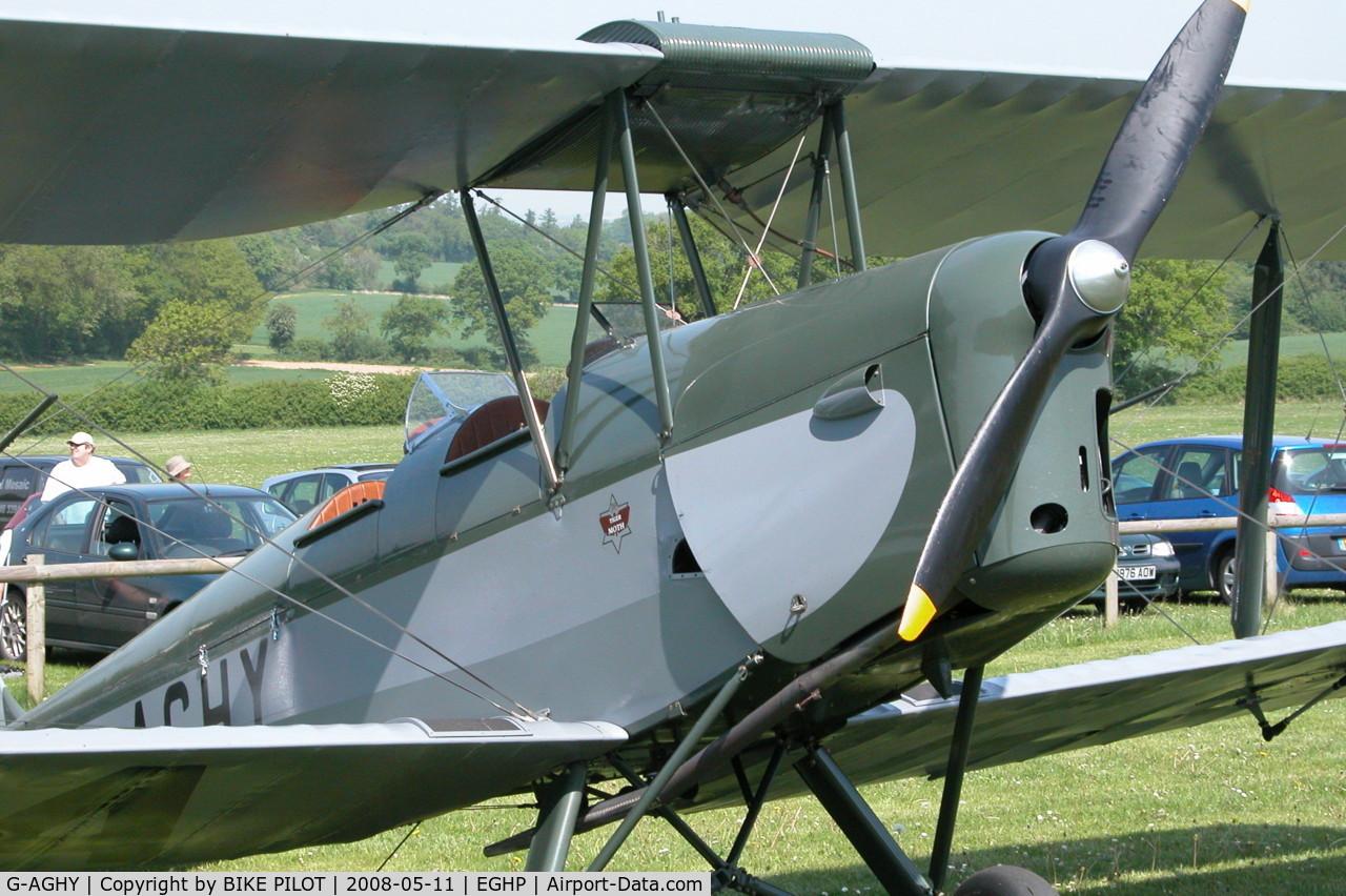 G-AGHY, 1939 De Havilland DH-82A Tiger Moth II C/N 82292, POPHAM DEHAVILLAND FLY-IN