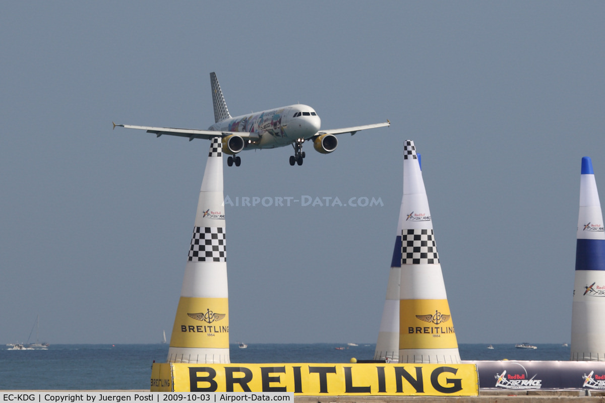 EC-KDG, 2007 Airbus A320-214 C/N 3095, Red Bull Air Race Barcelona 2009 - Vueling Airlines Airbus A320-214