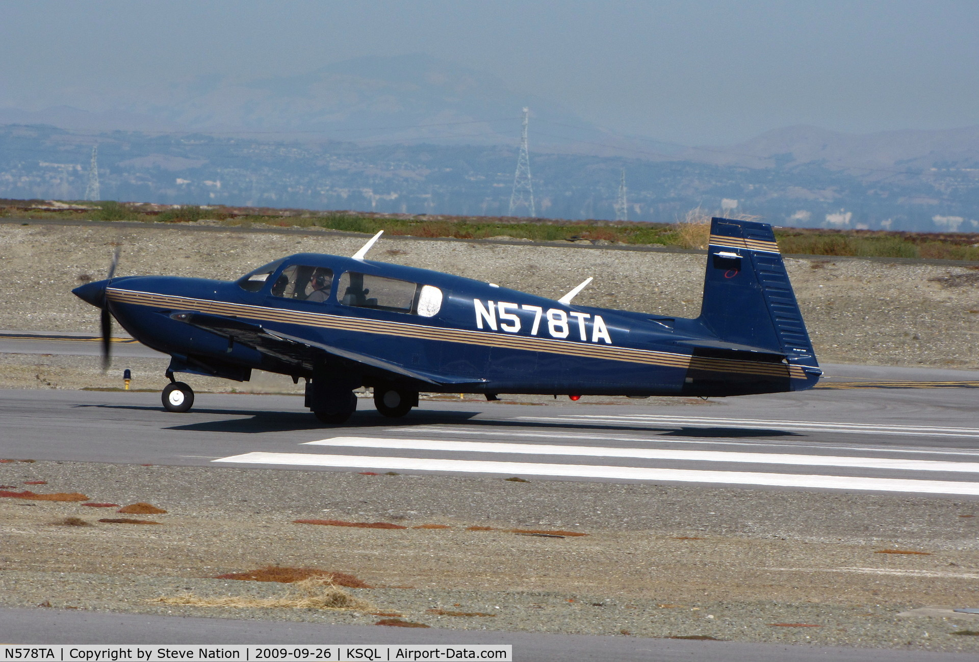 N578TA, Mooney M20R Ovation C/N 29-0153, Locally-based Mooney M20R on take-off
