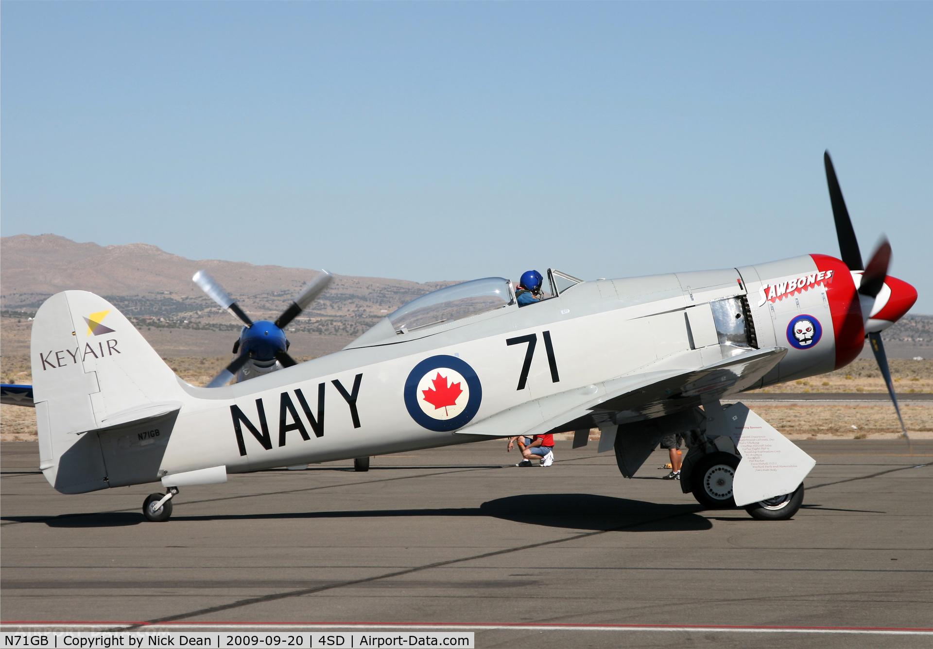 N71GB, 1949 Hawker Sea Fury T.20 C/N 37525, K4SD