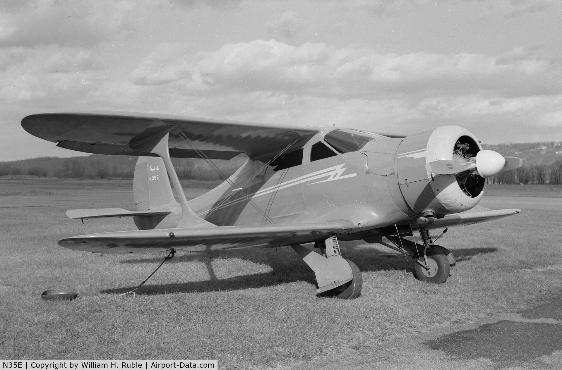 N35E, 1937 Beech D-17R C/N D-17R-167, N35E in 1964