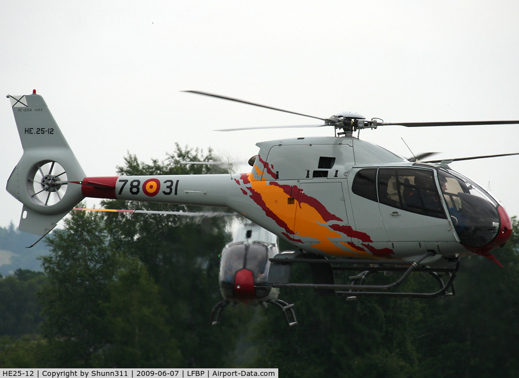 HE25-12, Eurocopter EC-120B Colibri C/N 1222, Arriving from Cazaux AFB...