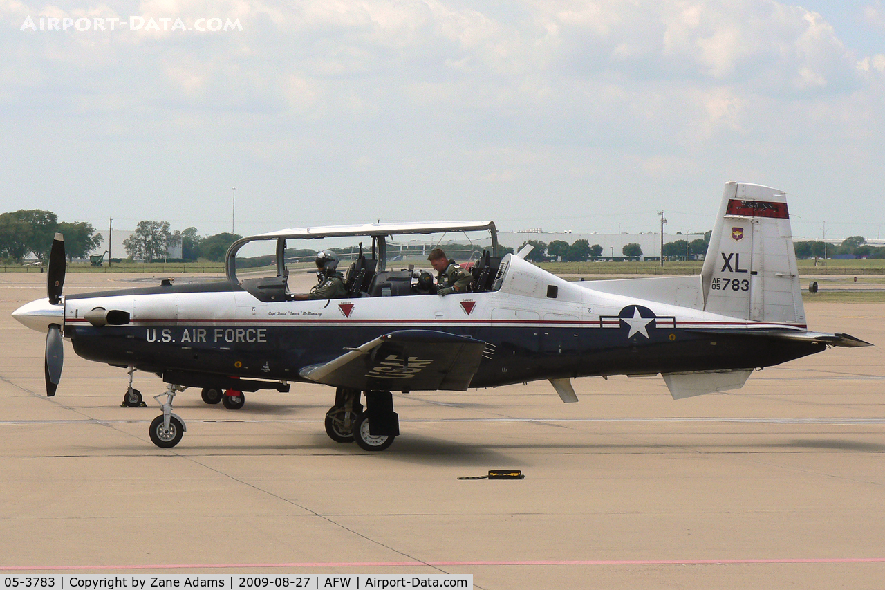 05-3783, Raytheon T-6A Texan II C/N PT-335, USAF T-38 at Alliance Forth Worth