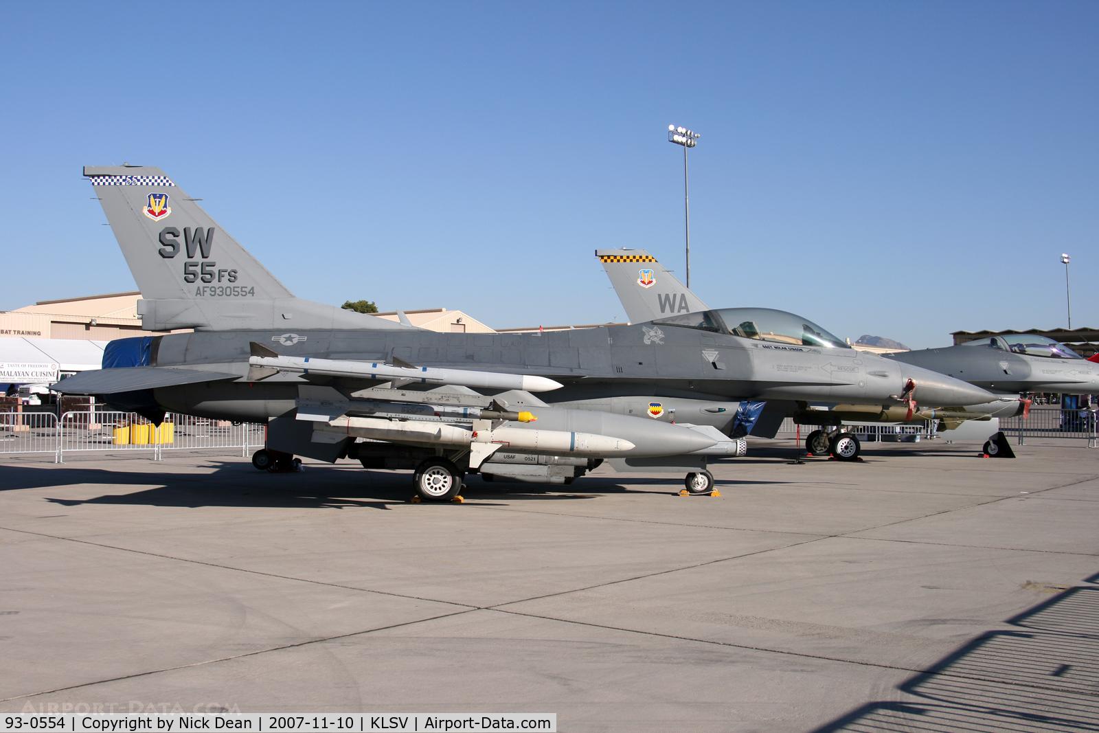 93-0554, 1993 Lockheed F-16C Fighting Falcon C/N CC-189, KLSV
