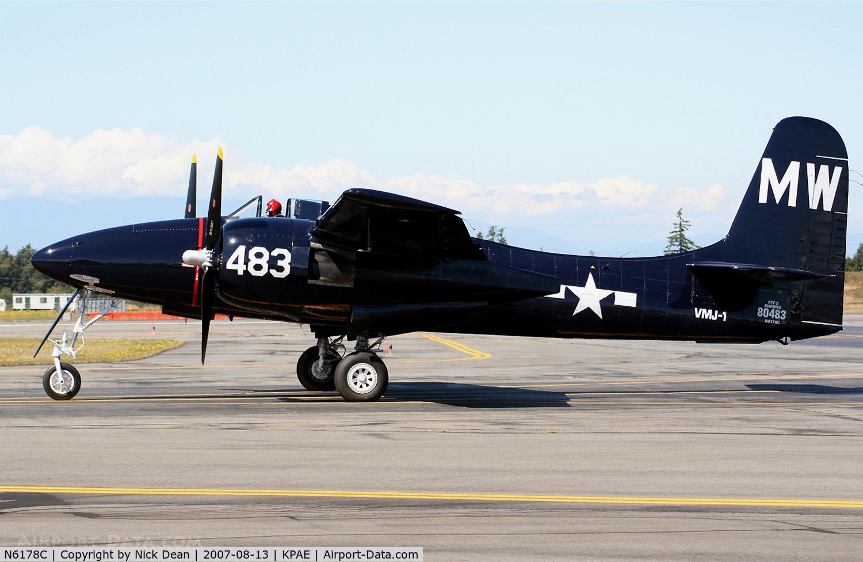 N6178C, Grumman F7F-3 Tigercat C/N C.225, KPAE