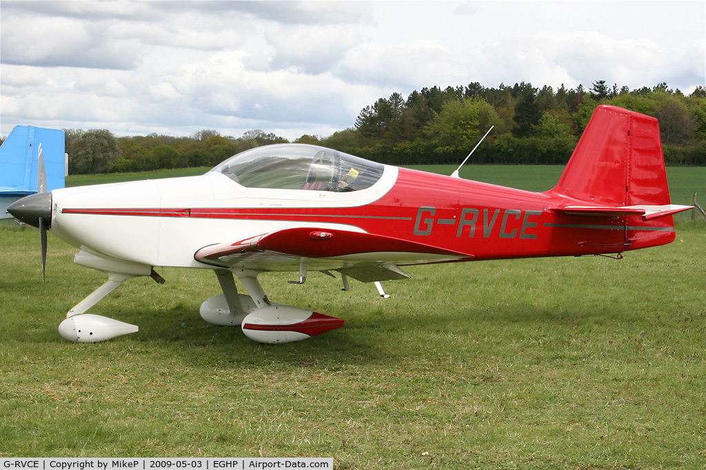 G-RVCE, 2001 Vans RV-6A C/N PFA 181-13372, Pictured during the 2009 Microlight Trade Fair.