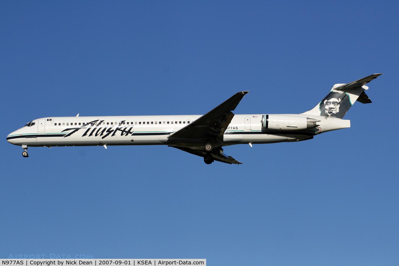N977AS, 1995 McDonnell Douglas MD-83 (DC-9-83) C/N 53453, KSEA