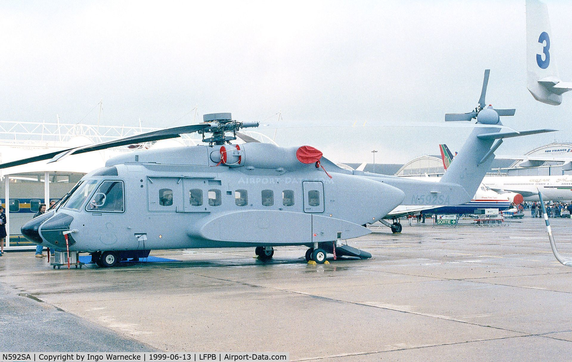 N592SA, 2001 Sikorsky S-92F C/N 92005, Sikorsky S-92F at the Aerosalon 1999, Paris