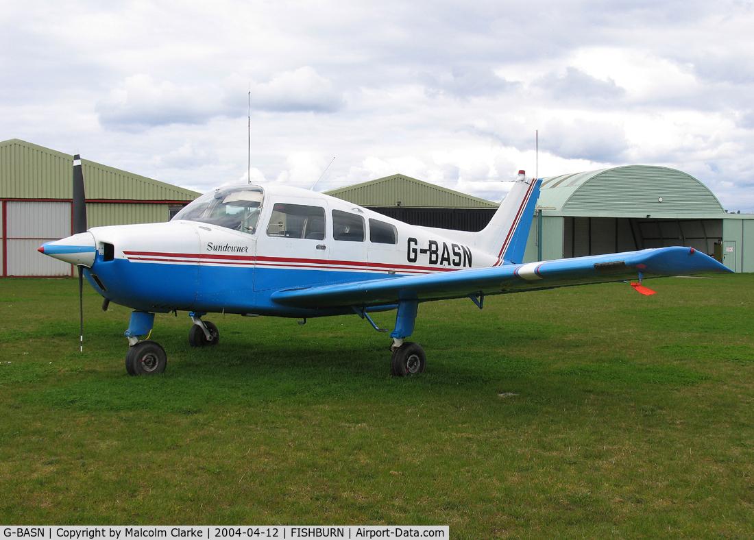 G-BASN, 1973 Beech C23 Sundowner 180 Sundowner 180 C/N M-1476, Beech C23 at Fishburn Airfield, Co Durham, UK in 2004.