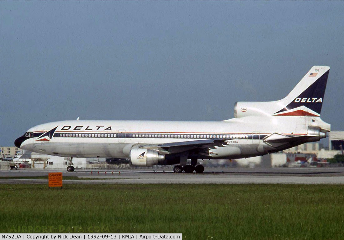 N752DA, Lockheed L-1011-385-3 Tristar 500 C/N 193W-1172, KMIA