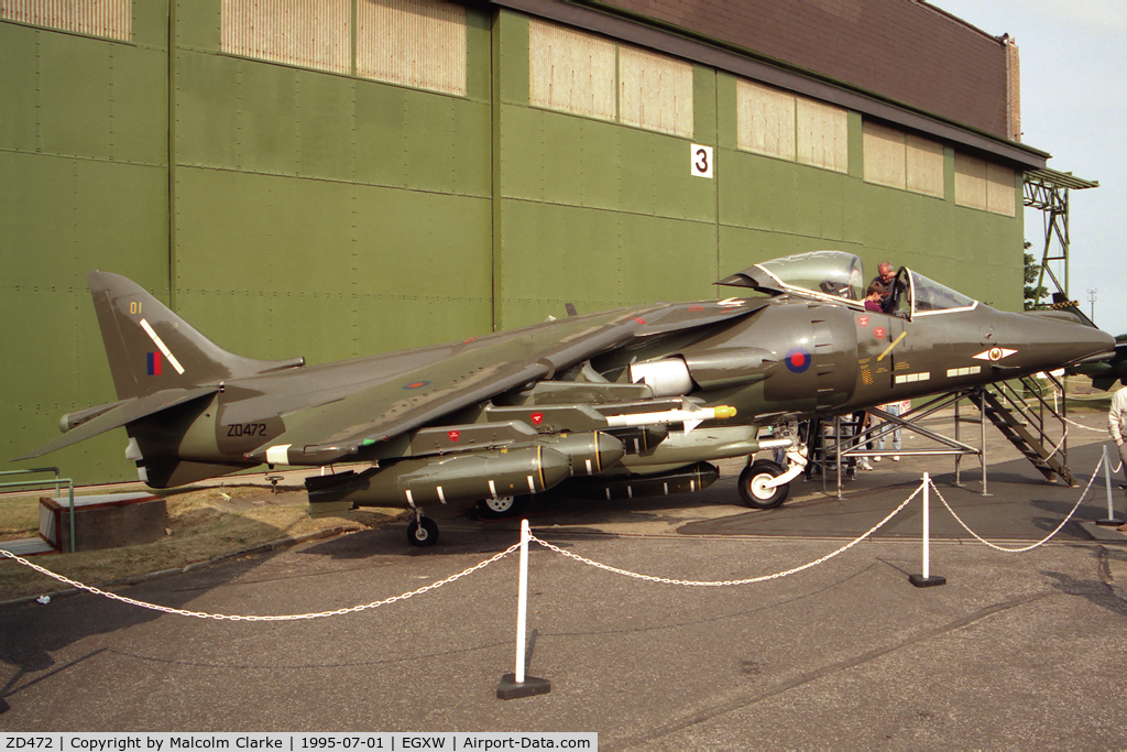 ZD472, British Aerospace Harrier GR.5 replica C/N BAPC 192, British Aerospace Harrier GR5 replica from RAF EP&TU, St Athan at Waddingtons Airshow in 1995.