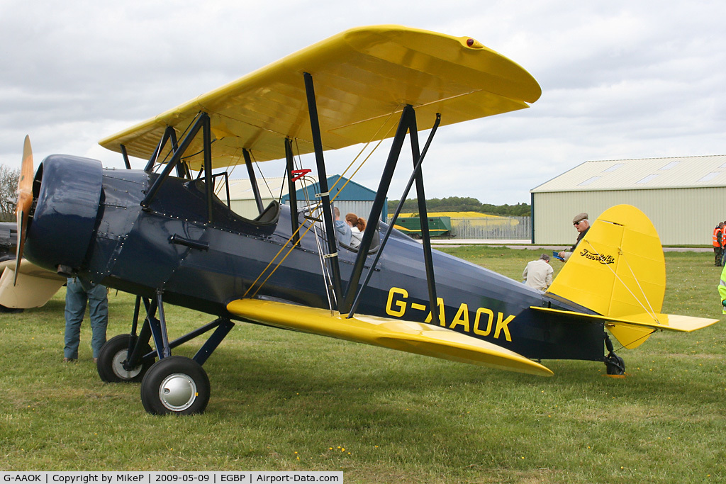 G-AAOK, 1929 Curtiss-Wright Travel Air 12Q C/N 2026, Visitor to the 2009 Great Vintage Flying Weekend.