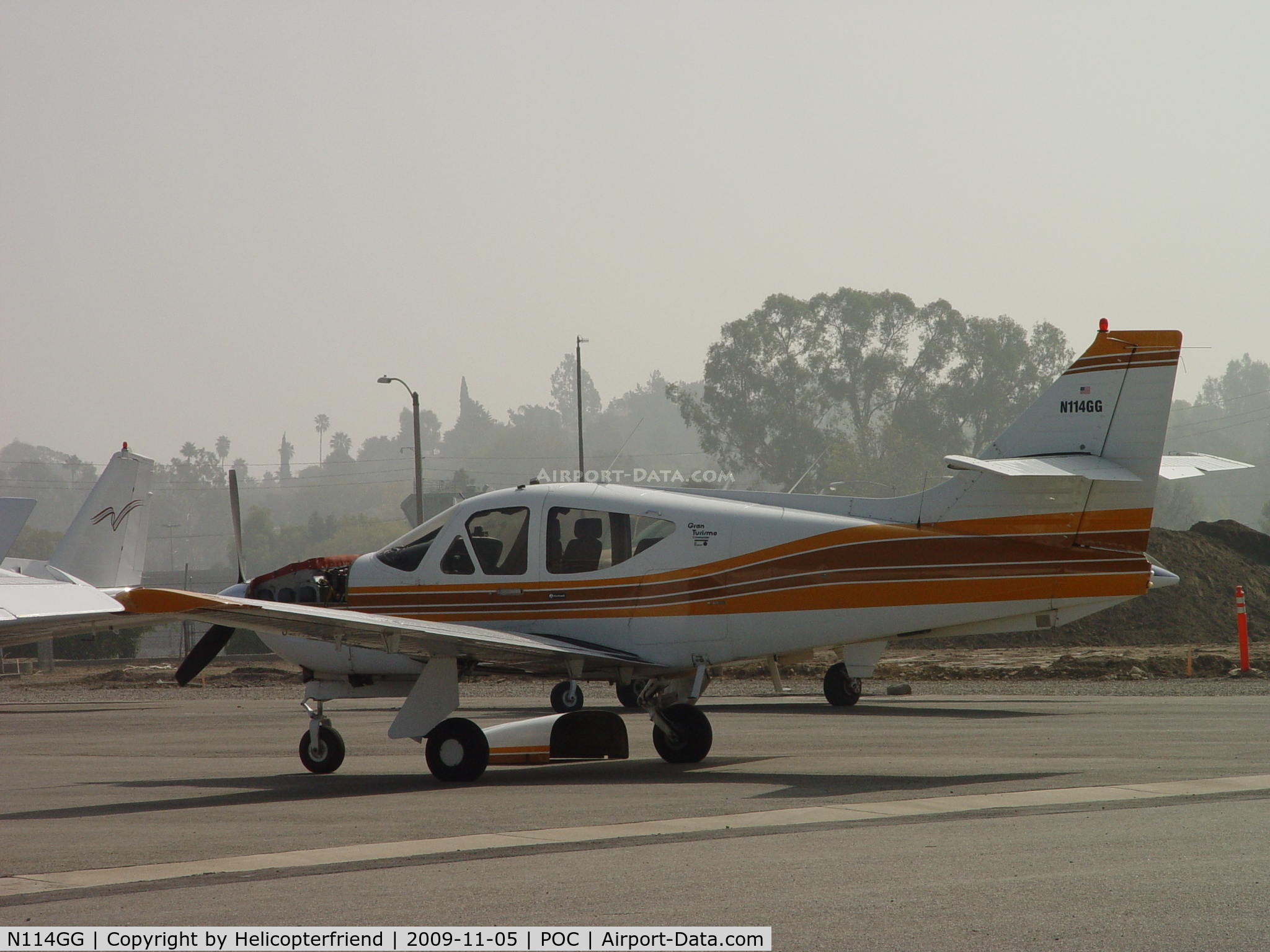 N114GG, Rockwell International 114A Commander C/N 14529, Cowling off for engine work at Howard Aviation