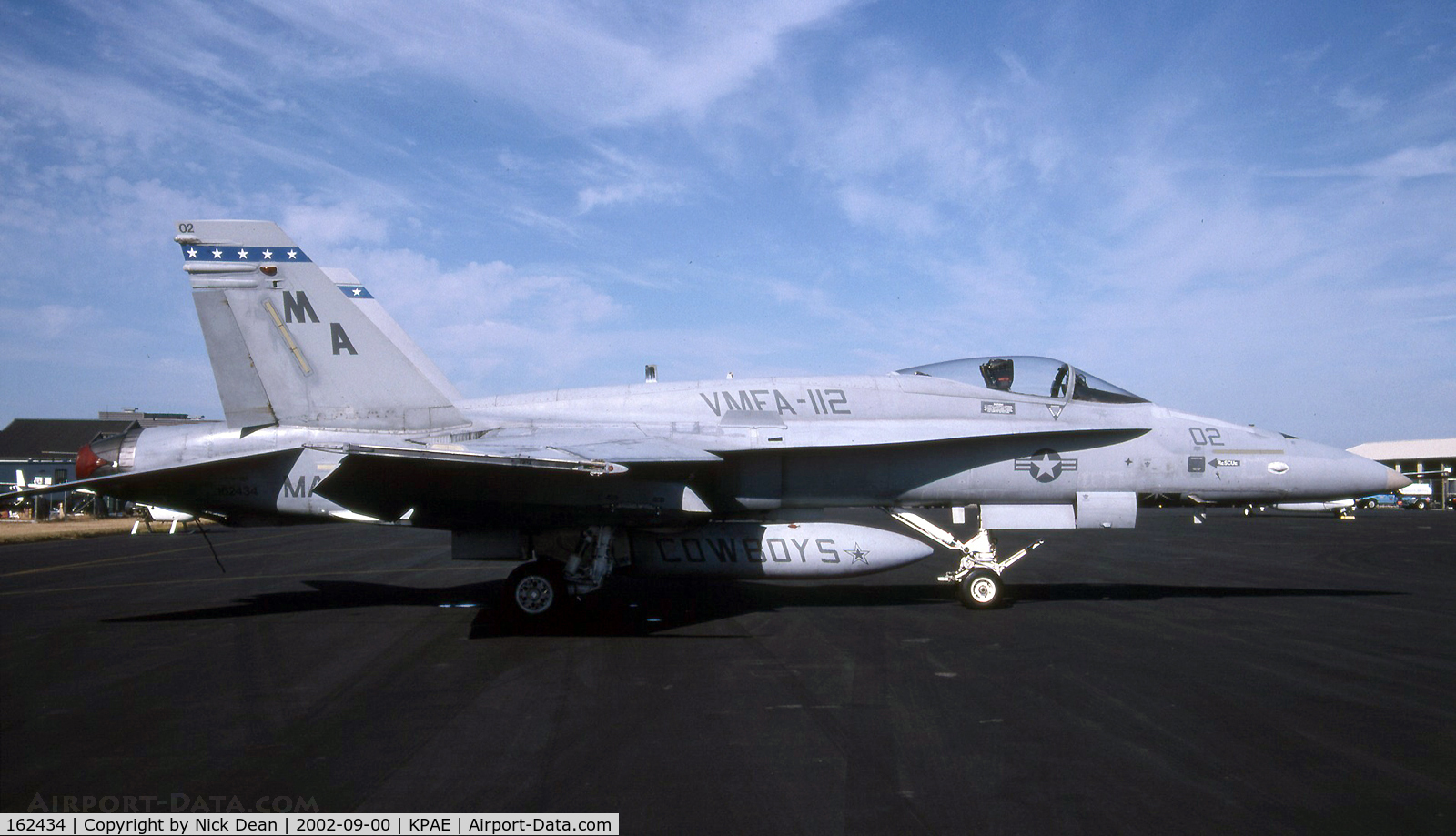 162434, McDonnell Douglas F/A-18A+ Hornet C/N 0277, KPAE W/O 21st Apr 2004
