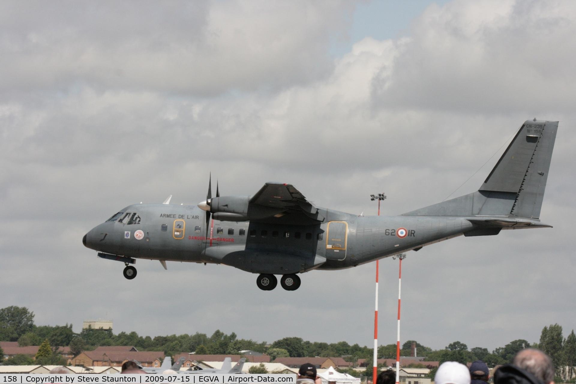 158, Airtech CN-235-200M C/N C158, Taken at the Royal International Air Tattoo 2009