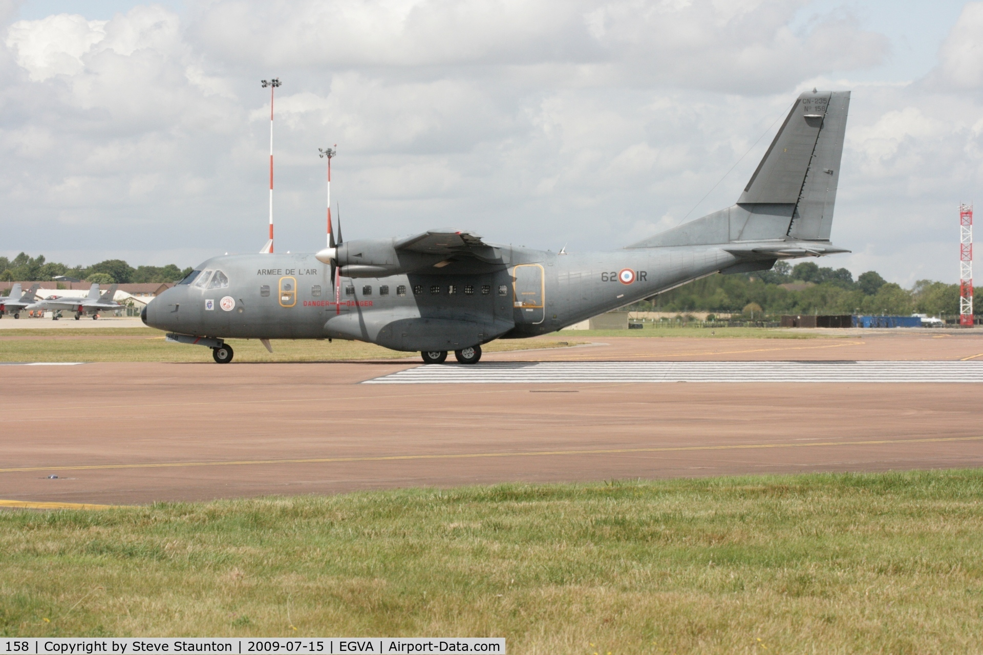 158, Airtech CN-235-200M C/N C158, Taken at the Royal International Air Tattoo 2009