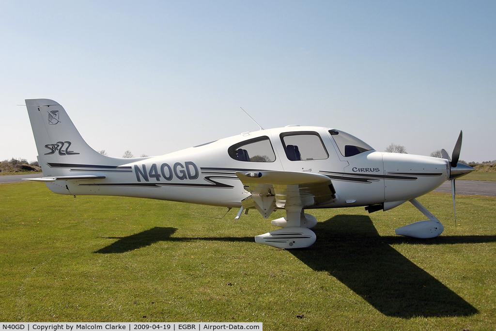 N40GD, 2003 Cirrus SR22 C/N 0473, Cirrus SR-22 at Breighton Airfield, UK.